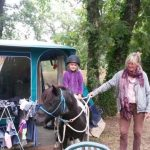 pony bij de tent